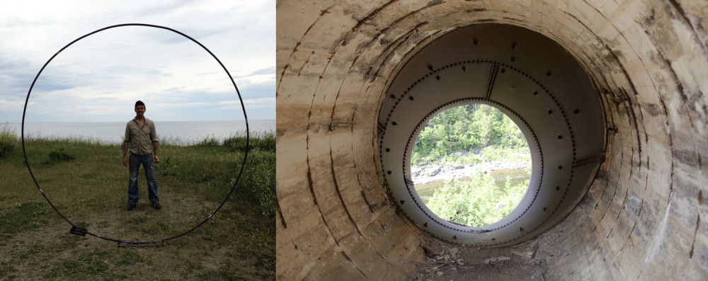 Etude pour une sculpture publique à partir des vestiges du moulin à papier du Grand Sault / Study for a public sculpture made from vestige of  the Grand Sault Paper Mill