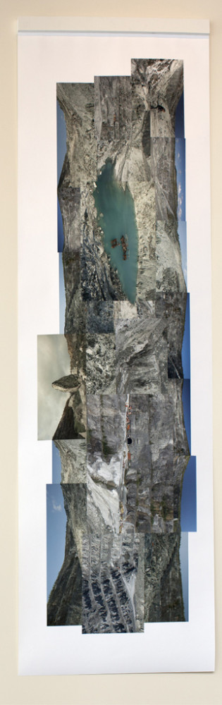 Paysages Vertical : Asbestos / Vertical Landscape: Asbestos, 2014 137 x 44 inches