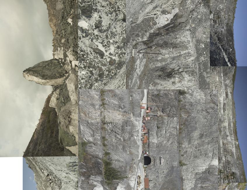 Vertical Landscape - Asbestos (detail), 2014.
