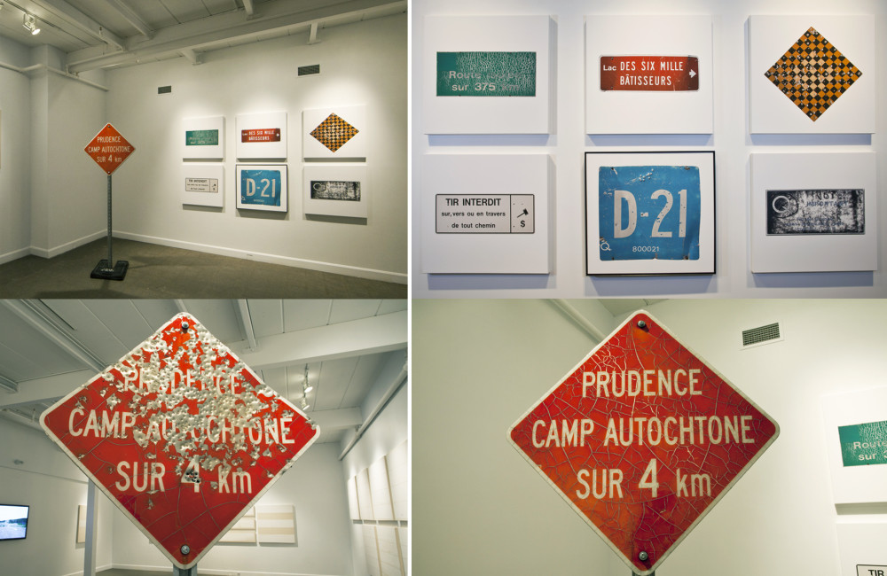 Hydro Cree: Panneaux routiers / Road Signs, (Langage Plus, Alma Qc), 2015